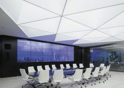 Pendant lamp / contemporary / fabric / LED